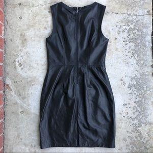 Trina Turk Dresses - Trina Turk Carnegie black leather sheath dress